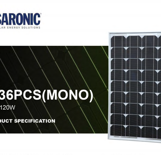 100 Watt Mono-crystalline Solar Panel